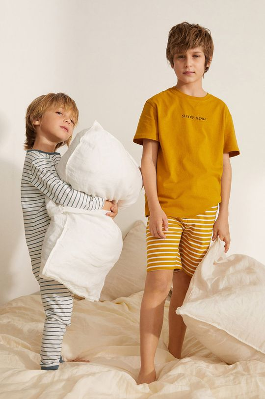 Mango Kids - Piżama dziecięca Sleepy-I 116-164 cm żółty
