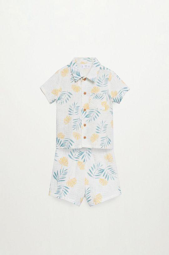 Mango Kids - Detské pyžamo Conzi 86-116 cm biela