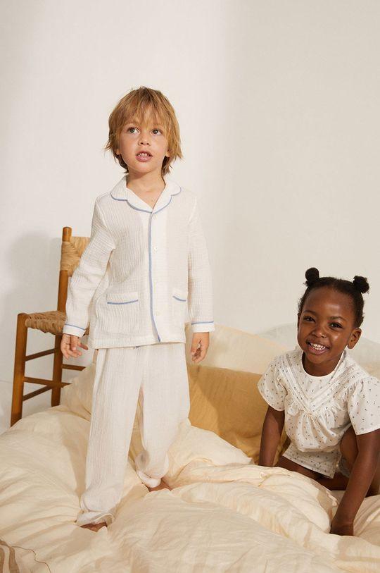 biela Mango Kids - Detské pyžamo Piping 86-116 cm Chlapčenský