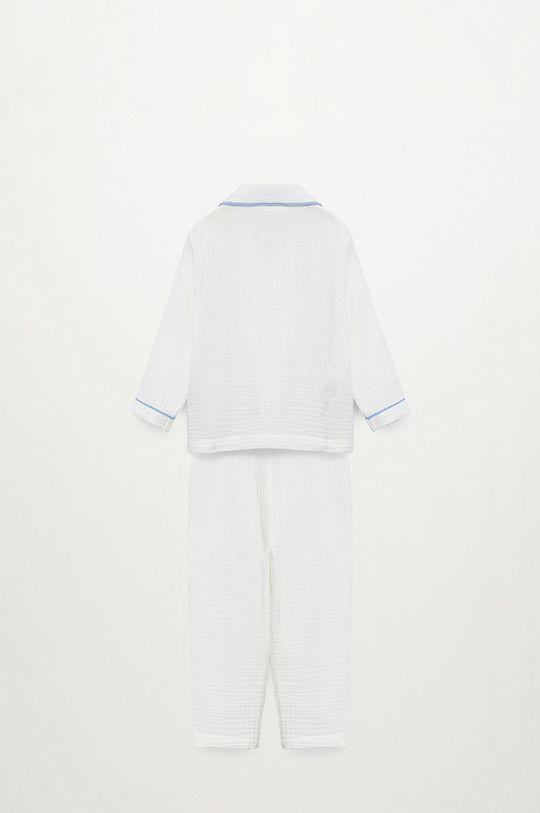 biela Mango Kids - Detské pyžamo Piping 86-116 cm