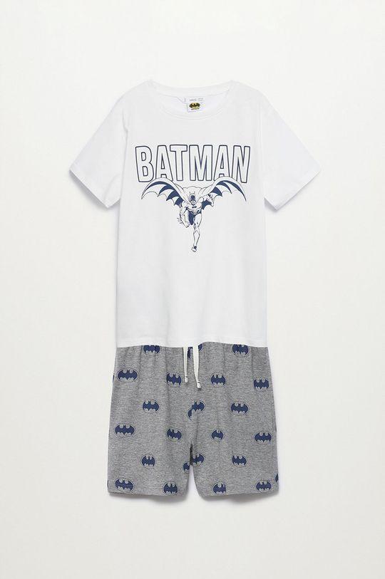 biały Mango Kids - Piżama dziecięca Batman 116-152 cm Chłopięcy
