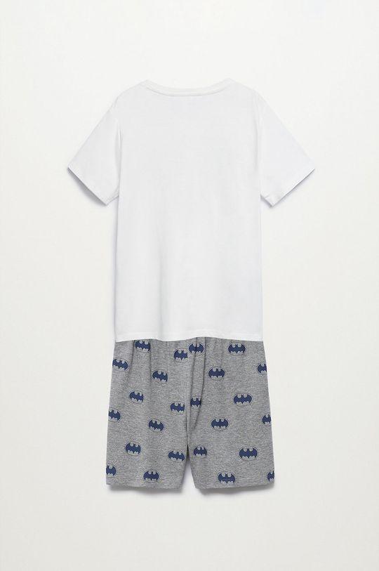 Mango Kids - Piżama dziecięca Batman 116-152 cm biały