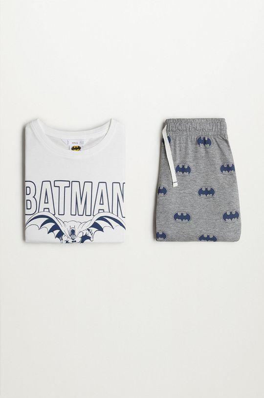 biały Mango Kids - Piżama dziecięca Batman 116-152 cm