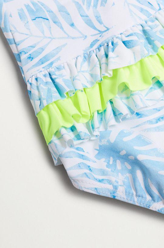 Mango Kids - Strój kąpielowy dziecięcy PALM blady niebieski
