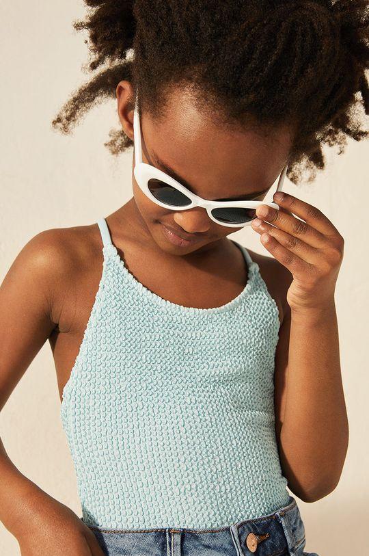Mango Kids - Strój kąpielowy dziecięcy OCEAN blady niebieski