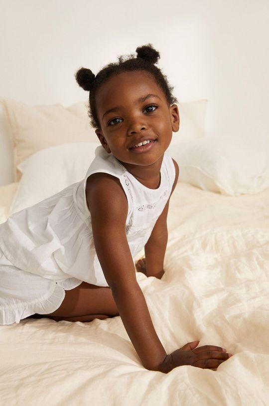 biały Mango Kids - Piżama dziecięca Lidiab 80-104 cm Dziewczęcy