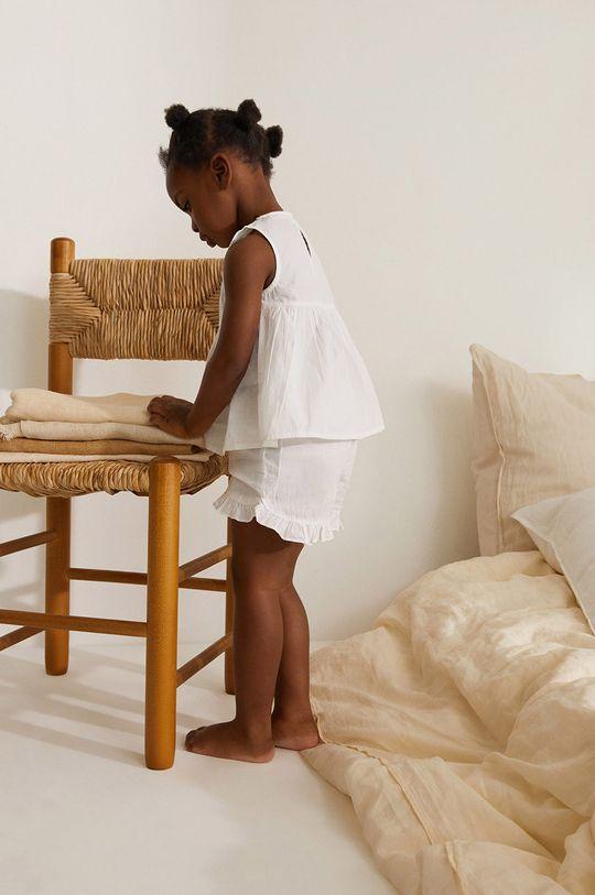 Mango Kids - Piżama dziecięca Lidiab 80-104 cm biały