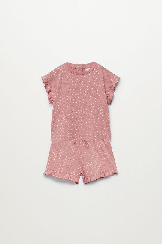 różowy Mango Kids - Piżama dziecięca Dotti 80-104 cm Dziewczęcy