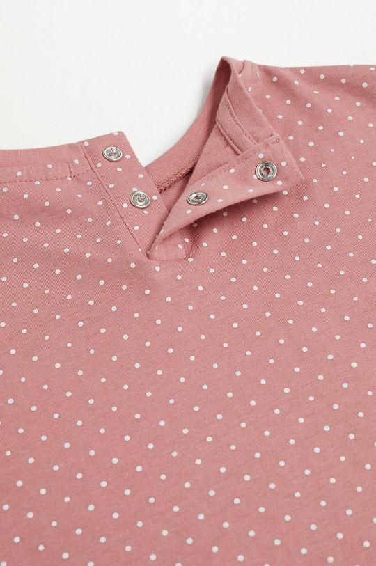Mango Kids - Piżama dziecięca Dotti 80-104 cm różowy