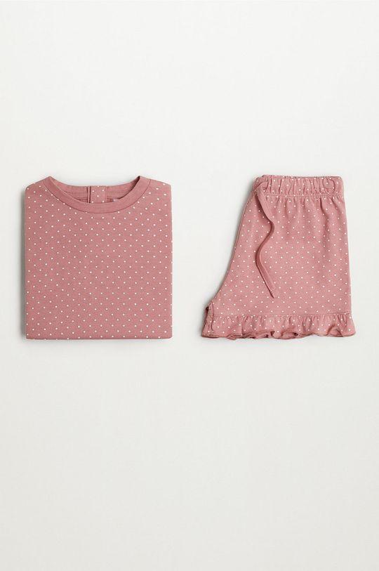 różowy Mango Kids - Piżama dziecięca Dotti 80-104 cm
