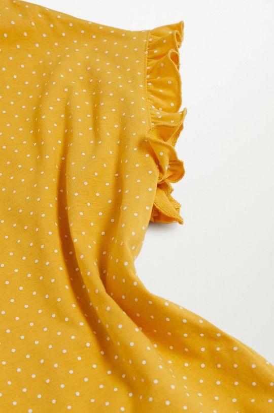 Mango Kids - Piżama dziecięca DOTTI żółty
