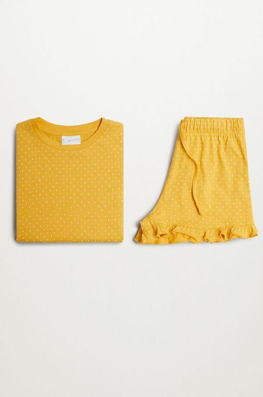 żółty Mango Kids - Piżama dziecięca DOTTI