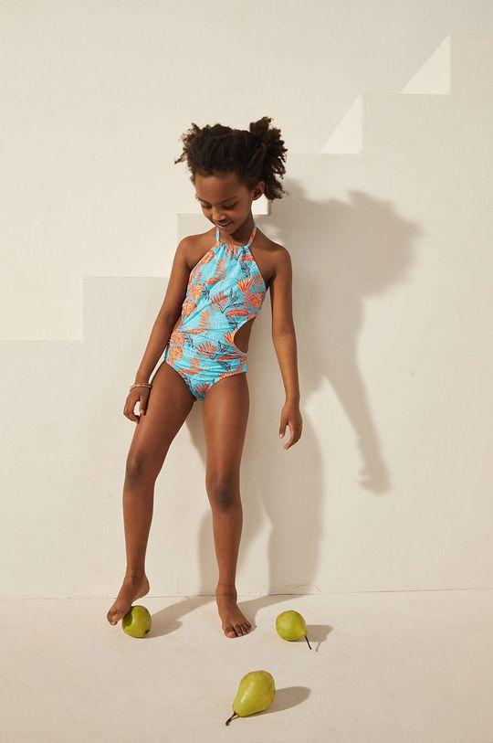 Mango Kids - Strój kąpielowy dziecięcy TROPIC pomarańczowy