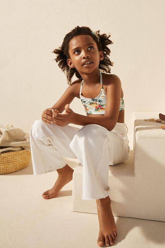 blady niebieski Mango Kids - Strój kąpielowy dziecięcy Hawai 116-164 cm Dziewczęcy