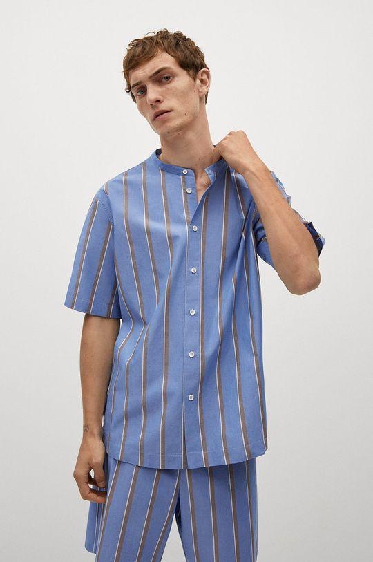 niebieski Mango Man - Koszula piżamowa AEGEAN-I Męski