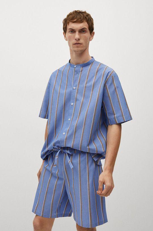 niebieski Mango Man - Szorty piżamowe AEGEAN-I Męski