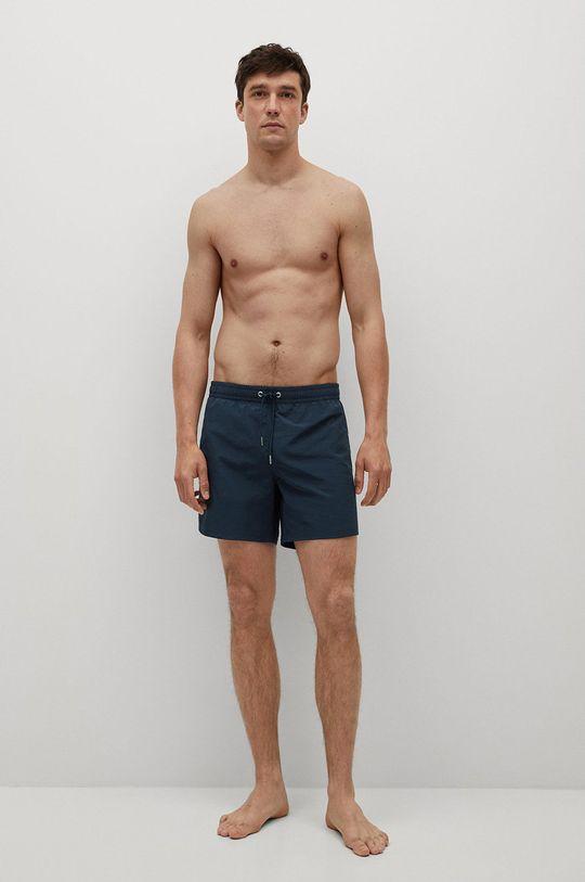 Mango Man - Plavkové šortky LISO tmavomodrá