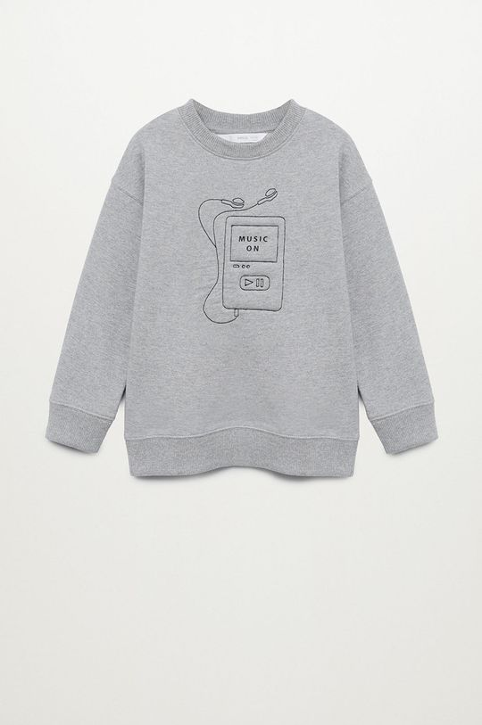 szary Mango Kids - Bluza dziecięca SOFT Chłopięcy
