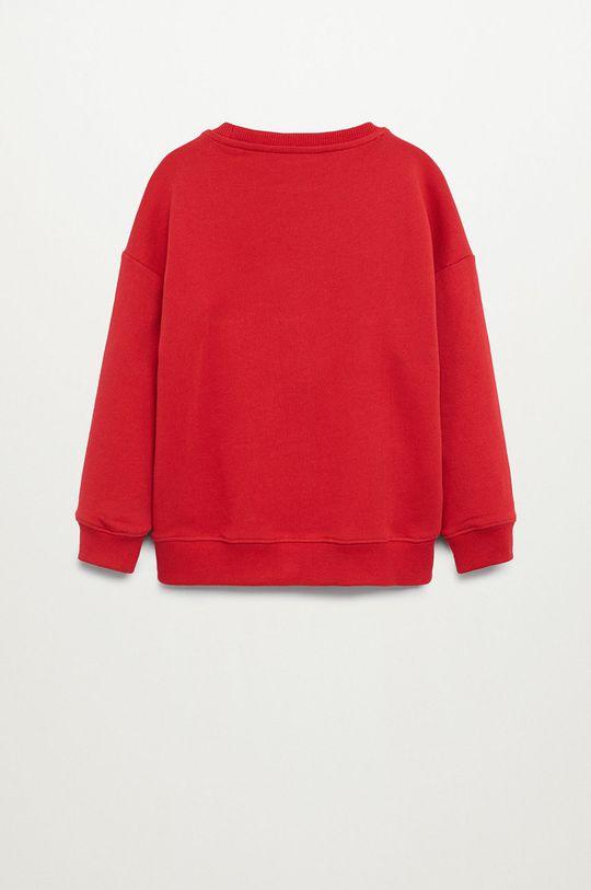 Mango Kids - Bluza dziecięca MAN czerwony