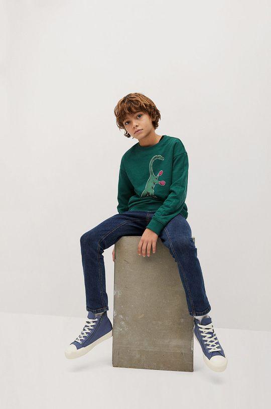 Mango Kids - Bluza dziecięca WORDING 100 % Bawełna organiczna