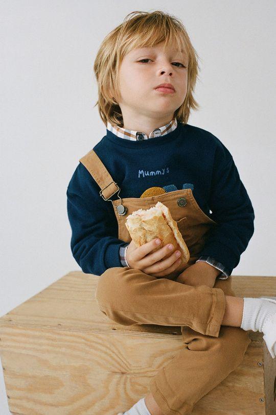 Mango Kids - Detská mikina JON tmavomodrá