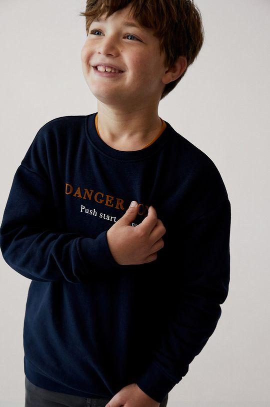 tmavomodrá Mango Kids - Detská mikina DANGER Chlapčenský