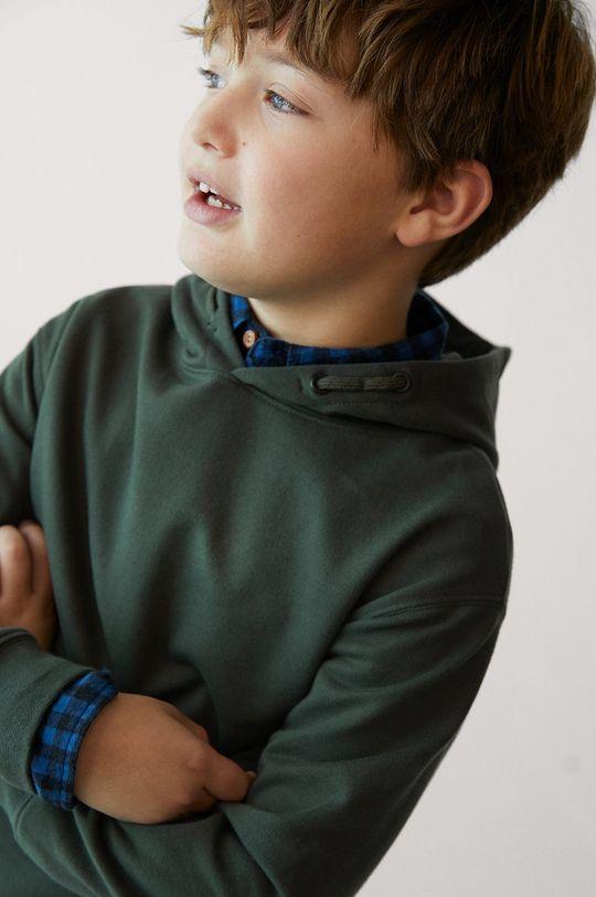 Mango Kids - Bluza bawełniana dziecięca HOOD złoty brąz