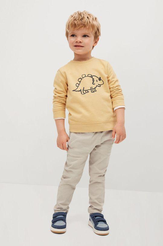 žlutá Mango Kids - Dětská mikina SAURUS Chlapecký
