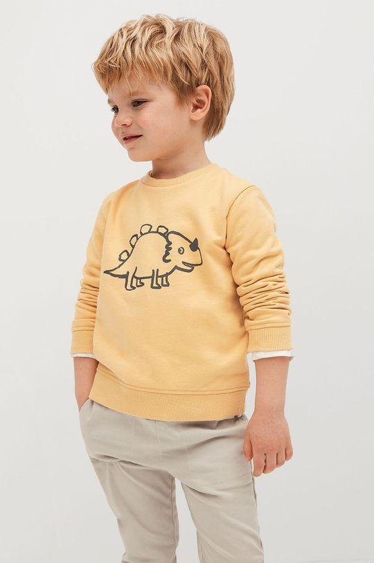 Mango Kids - Dětská mikina SAURUS žlutá