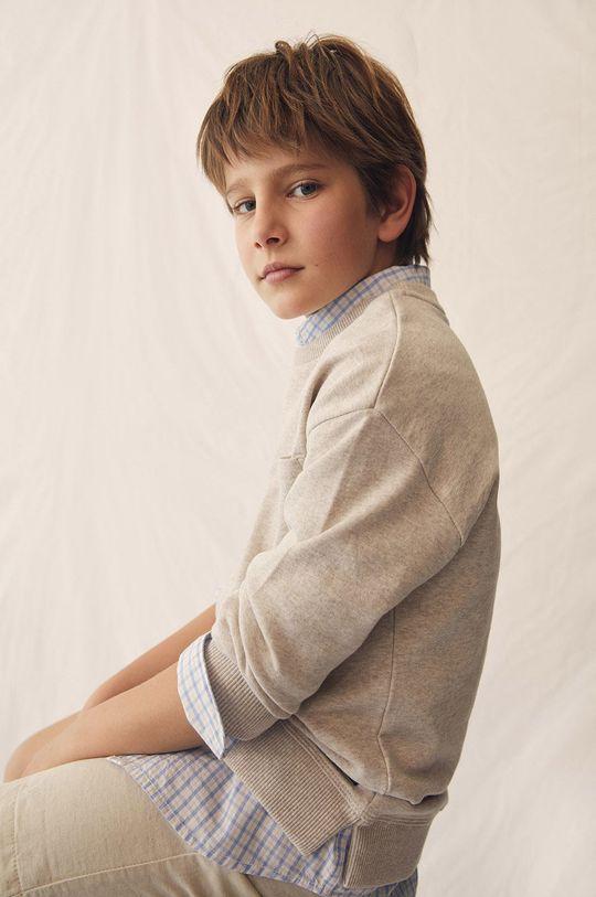 Mango Kids - Bluza bawełniana Tony 110-164 cm pszeniczny