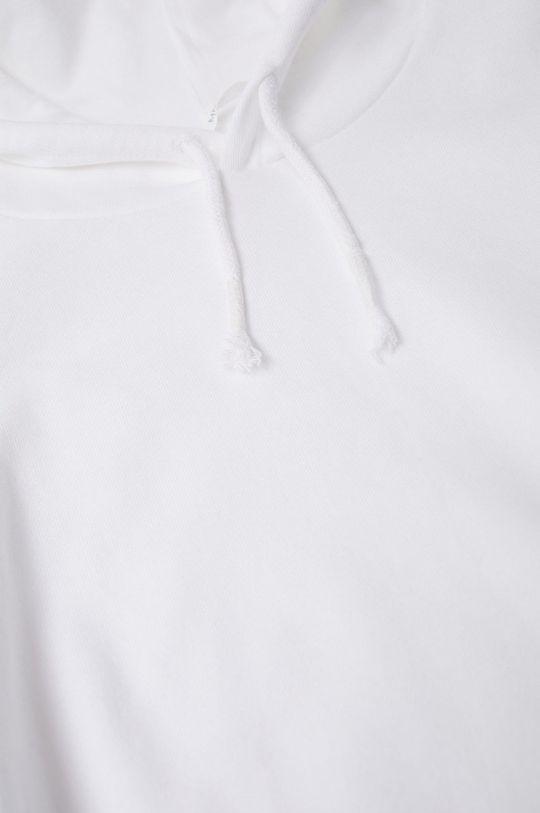 Mango Kids - Bluza bawełniana Snow biały