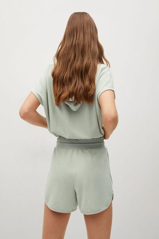 Mango - Mikina WAFFLE  7% Elastan, 30% Polyester, 33% Viskóza, 30% Recyklovaný polyester