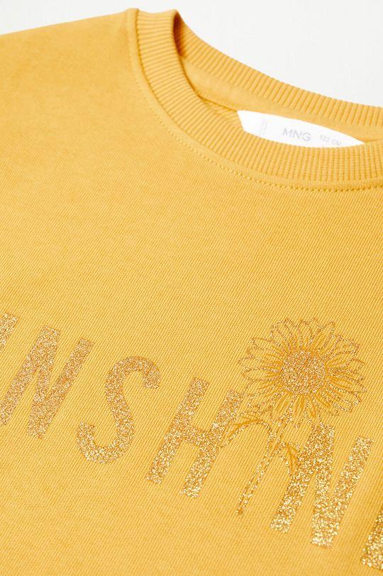 Mango Kids - Bluza bawełniana dziecięca DUBLINI żółty