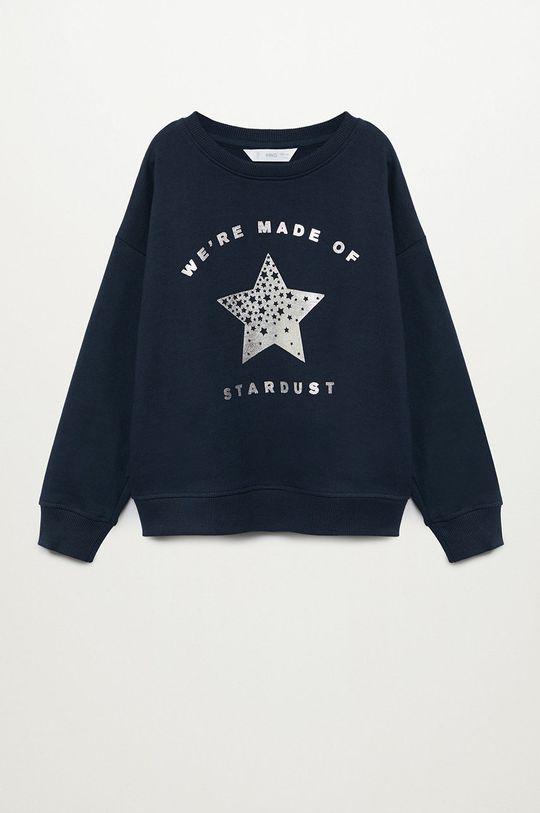 granatowy Mango Kids - Bluza bawełniana dziecięca DUBLINI Dziewczęcy