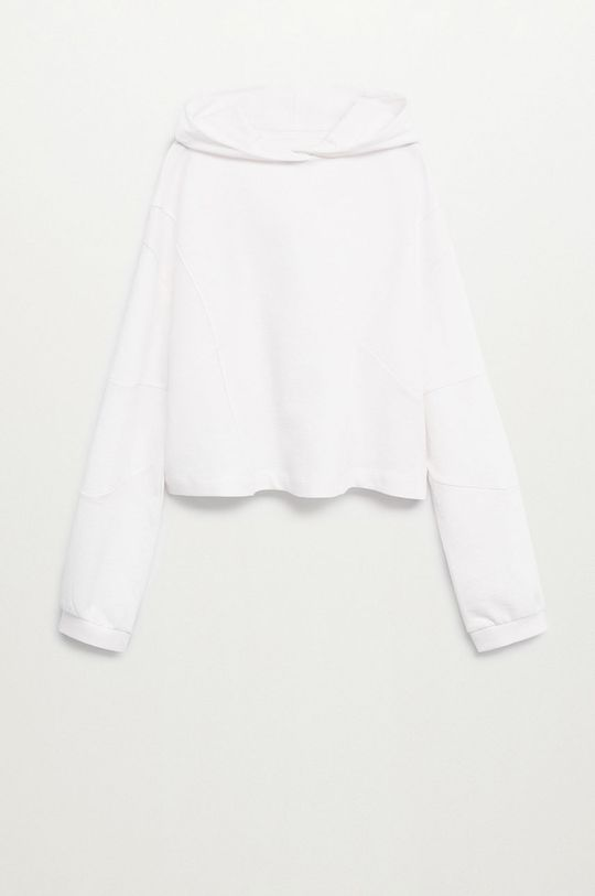 bílá Mango Kids - Dětská bavlněná mikina DAISY Dívčí