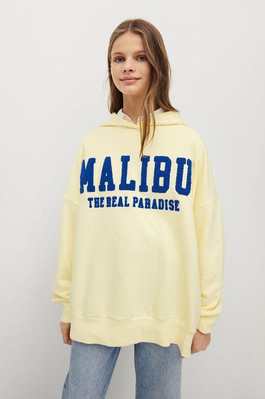 żółty Mango Kids - Bluza dziecięca MALIBU Dziewczęcy