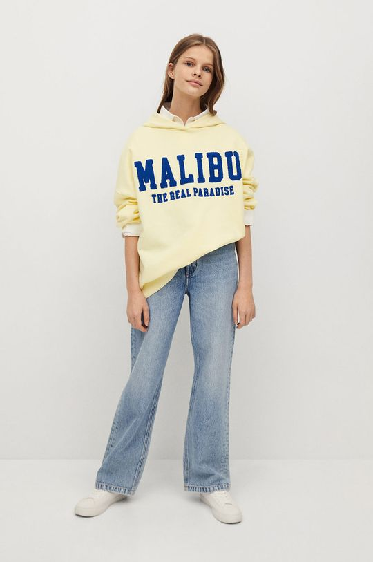Mango Kids - Bluza dziecięca MALIBU żółty
