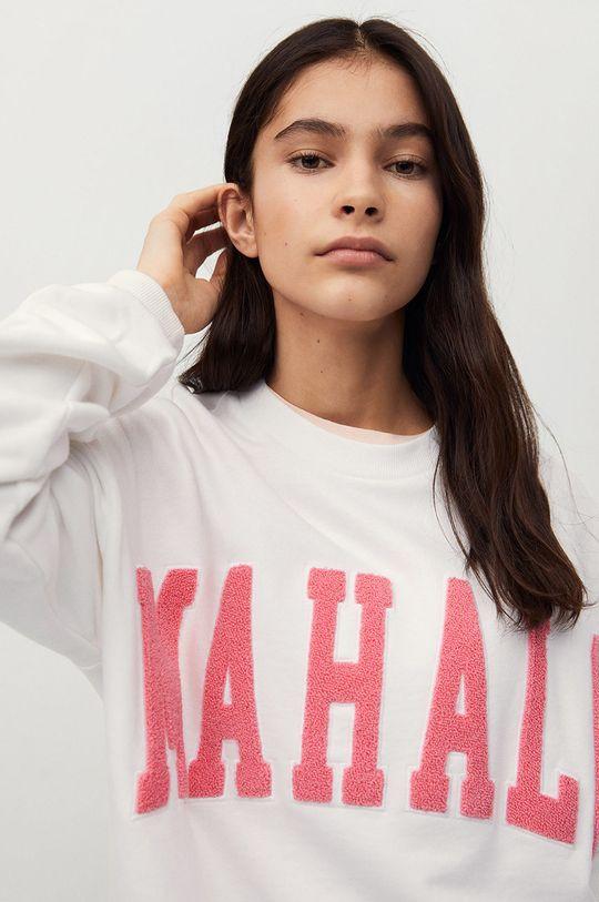 Mango Kids - Bluza bawełniana dziecięca Hawai biały