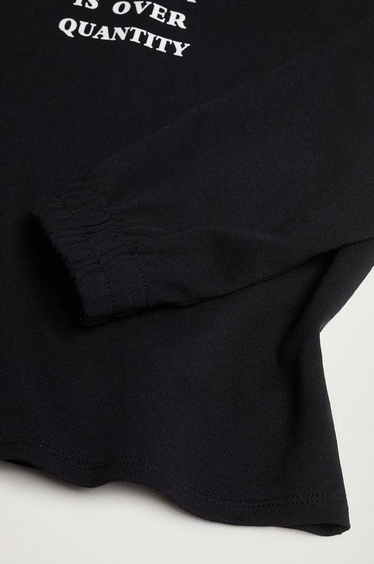 čierna Mango Kids - Detská bavlnená mikina Quality
