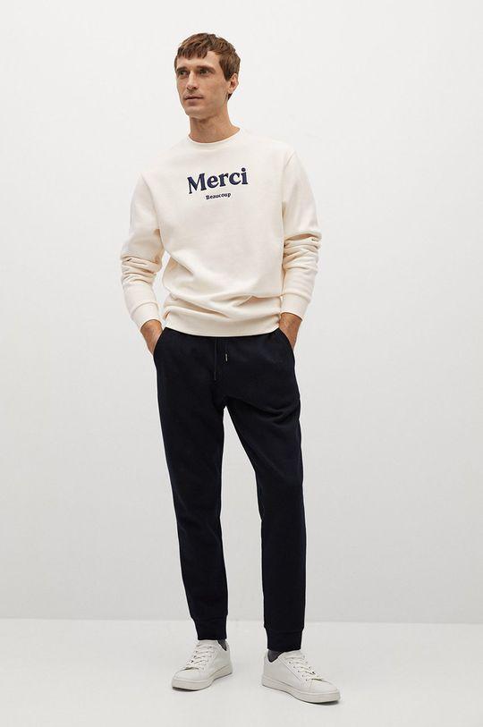 Mango Man - Bluza MERCI biały