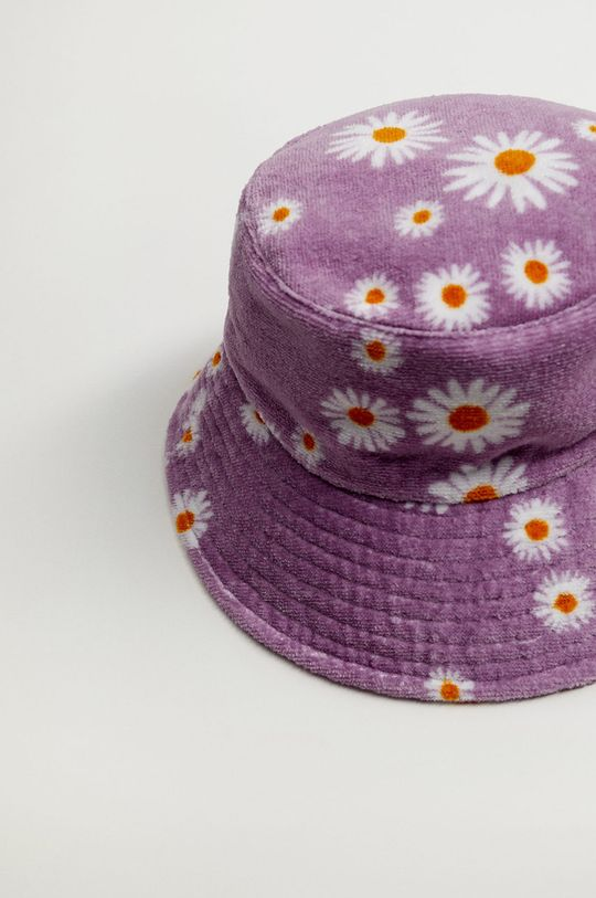 Mango - Kapelusz Daisy purpurowy