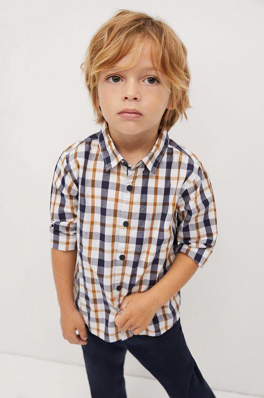 żółty Mango Kids - Koszula bawełniana dziecięca CHECKS8 Chłopięcy