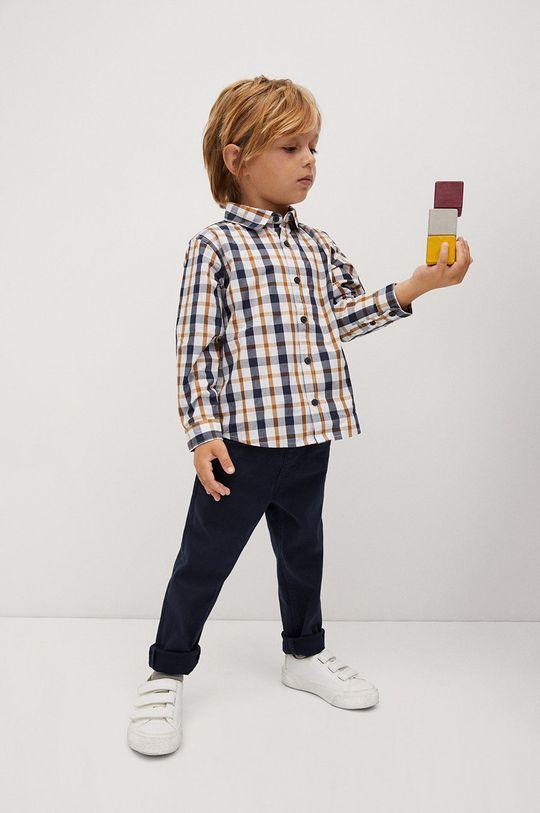 Mango Kids - Koszula bawełniana dziecięca CHECKS8 żółty