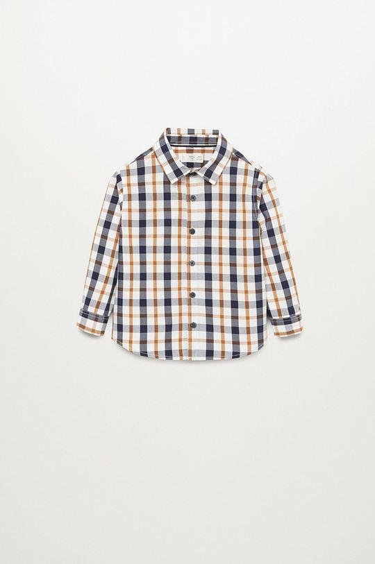 Mango Kids - Koszula bawełniana dziecięca CHECKS8 Chłopięcy