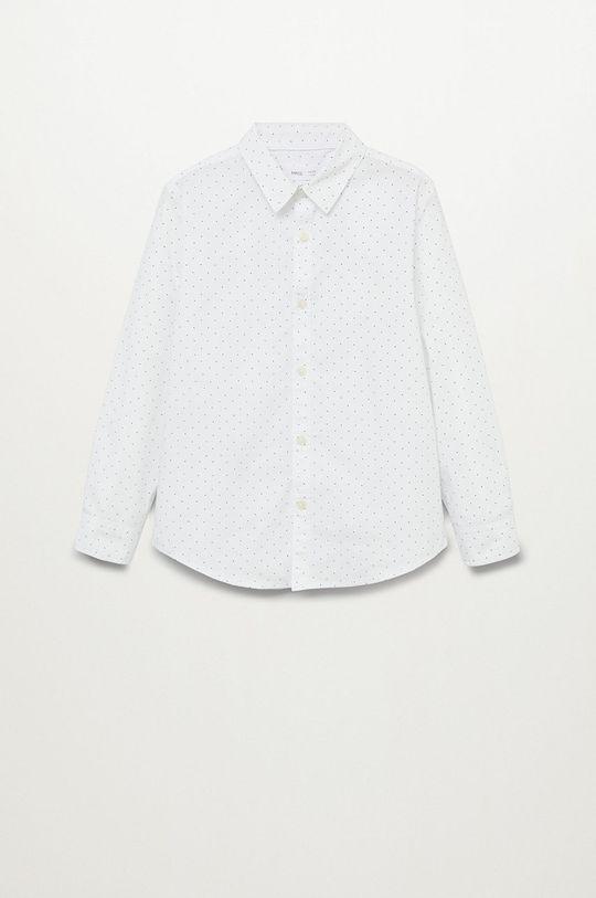 biały Mango Kids - Koszula dziecięca DAMIAN8 Chłopięcy