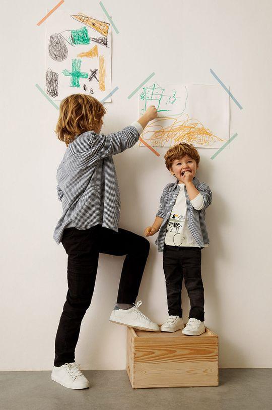 jasny szary Mango Kids - Koszula bawełniana dziecięca Matcha 110-164 cm Chłopięcy
