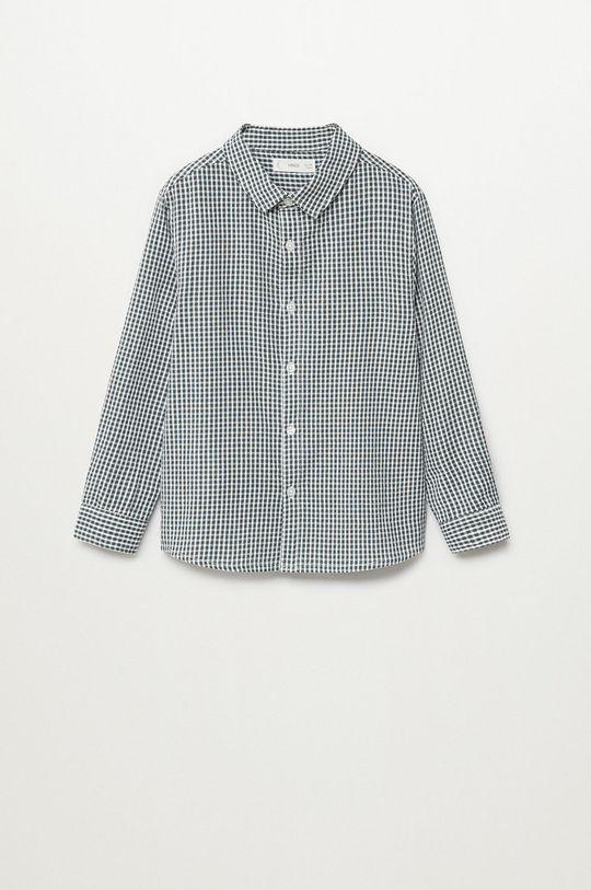 Mango Kids - Koszula bawełniana dziecięca Matcha 110-164 cm Chłopięcy