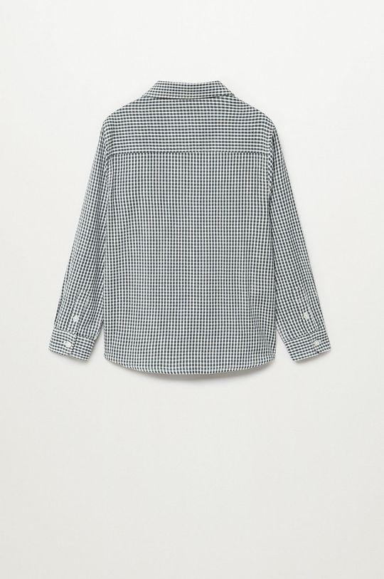 Mango Kids - Koszula bawełniana dziecięca Matcha 110-164 cm