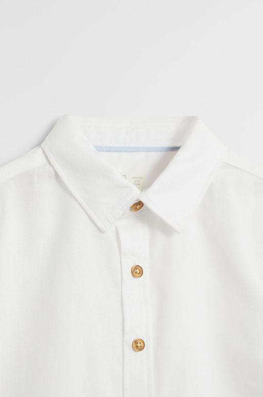 Mango Kids - Koszula dziecięca OXFORD7 biały