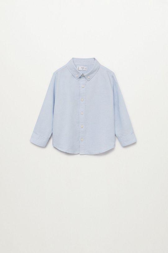 blady niebieski Mango Kids - Koszula dziecięca OXFORD Chłopięcy